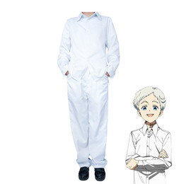 Canada Anime The Neverland Promise Costume Cosplay Normand Yakusoku no Uniforme Scolaire de Neverland Chemise et Pantalon Blanc Offre