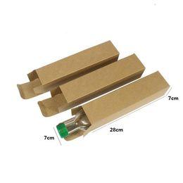 500 pcs 7 * 7 * 28 cm Bouteille De Vin Boîtes Paquets Personnalisé Rétro Kraft Papier Boîtes Emballage Cadeau Boîte Livraison Gratuite ? partir de fabricateur