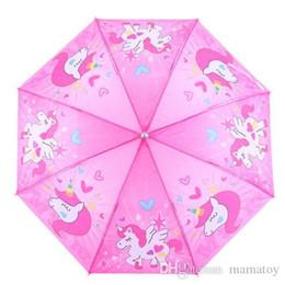 Canada 2018 NOUVEAU Catoon Umbrella Licornes mignonnes Rainbows Clouds Étoiles et Cristaux Auto Ouvert Fermer Pliant Étanche Parapluie Offre
