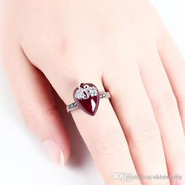 Deutschland Jewels88 2018 Thai Silber eingelegten Granat Ringe Retro echte Gericht Damenschmuck, 19 Frühlingsmode. Granat Saphir, Rubin Versorgung