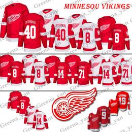 Top Detroit Red Wings Hockey Jerseys 14 Gustav Nyquist 8 Justin Abdelkader  40 Henrik Zetterberg 71 Dylan Larkin 9 Gordie Howe Hockey Jersey 2ac70985f