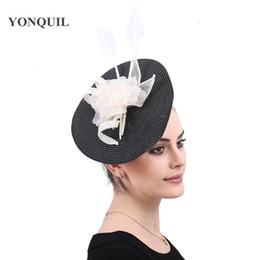 Women Lady Fashion Big Fascinator Hat Headbands Ladies bridal Married  Cocktail Wedding Church Headpiece floral headwear free ship SYF530 10ac624ff1e5