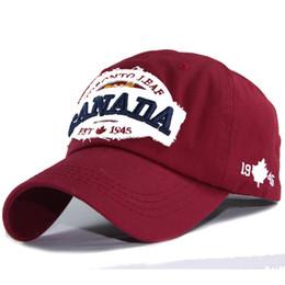 100% Coton Casquette De Baseball Hommes Snapback Caps Casquette Chapeau Pour Hommes Femmes Hip Hop Os Canada Lettres Brodé Cap Patch Patch Papa Chapeau ? partir de fabricateur