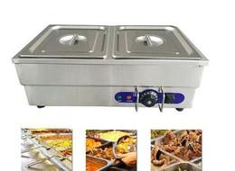 Equipo de comida online-Comida comercial tipo bufé Bain Marie, sopa de acero inoxidable, ollas de caldo para la cocina de Commerical Food Warmer Catering Equipment Machine