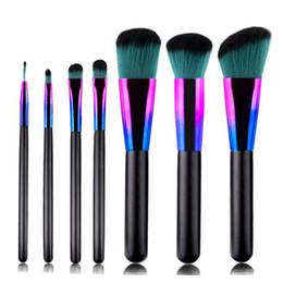 Contorno, olho, sombra on-line-Nova marca 7pcs Pincéis de maquiagem Sombra Foundation Pó Contour Concealer Lip Make Up escova ferramenta de beleza Brochas M aquillaje
