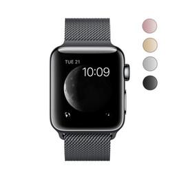 Para Apple Watch Series4 / 3/2/1 Correa de reloj de acero inoxidable milanesa con estuche protector Correa Correa de reloj de absorción magnética 38 / 42mm 100pc desde fabricantes