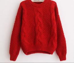 2019 Nuevo suéter Twist vestido de primavera y otoño sin mangas sin forro prenda superior suelta jersey corto cuello circular suéter blusa desde fabricantes