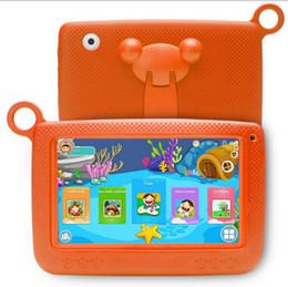 "tableta china teléfono sim Rebajas DHL Kids Brand Tablet PC 7 ""Tableta infantil Quad Core Android 4.4 Allwinner A33 1G + 8g reproductor de google wifi + altavoz grande + cubierta protectora"