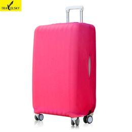 Capa de bagagem elástica on-line-Travelsky Grosso Bagagem de Viagem Tampa Elástica Mala Capa Protetora Para 26-32 Polegada de Bagagem Caso de Viagem para o Natal