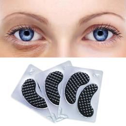 Almofadas de gel para os olhos on-line-Máscara de Olho de Colágeno preto Almofadas de Gel Para O Rosto Anti-rugas Crystal Eye Patches Sob Os Olhos Escuro Círculo Removedor de 15 pares = 1 caixa