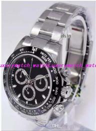смотреть Скидка Роскошные часы лучшее качество 40 мм Cosmograph 116500 116500LN 904L стальной хронограф Swi ss CAL.4130 Механизм Автоматические Мужские Часы
