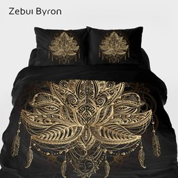 3d quilts covers king size Coupons - 3D HD Bedding sets,Duvet Cover set King Queen Custom Size,Bed Set Black Golden lotus,Blanket Quilt Cover Set,luxury Bedclothes