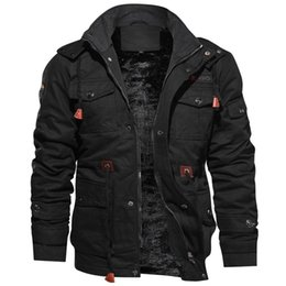 Marcas de roupas militares on-line-Novas dos homens de chegada de Inverno de lã casacos quentes casaco com capuz térmica jaqueta grossa Casacos Masculino Militar Homens Roupa do tipo 066