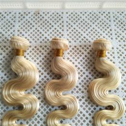 2019 pelo de la onda del cuerpo de 14 pulgadas Platinum Blonde Color Braizlian Body Wave 100% de armadura de cabello humano 10-30 pulgadas de doble trama de extensiones de cabello virgen pelo de la onda del cuerpo de 14 pulgadas baratos