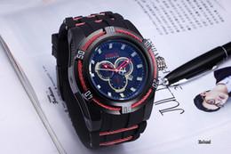 3B invicta Travailler Chronographe De Luxe Montres Hommes Montres Top Marque bande de Silicone Quartz Montre-Bracelet C Pour Hommes cadeau relojes ? partir de fabricateur