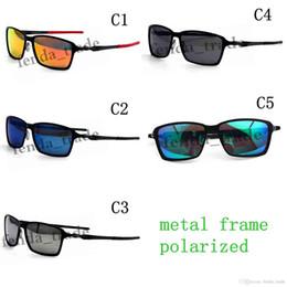 19fefa4c41 brand new Metal Sunglasses UV400 polarized Lens Sports Sun Glasses Fashion  Trend Cycling Eyewear 5 Colors discount mirrored sunglasses trend