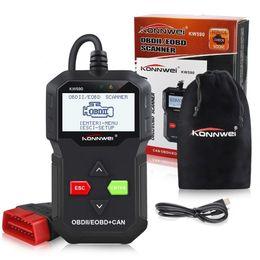 KONNWEI KW590 OBD2 Escáner automotriz OBD ODB2 Herramienta de diagnóstico de automóvil en lector de código ruso Escáner automático Mejor que AD310 ELM327 desde fabricantes