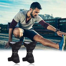 Knielänge rutscht online-1 Paar Stützkniegelenkpolster Atmungsaktiv Rutschfeste Powerlift-Stützkniegelenkpolster Rebound Kraftvolle Federkraft Knielänge Verstärken