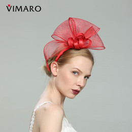 c168369b wholesale Red Hair Fascinators Hats For Women Elegant Fascinators For Weddings  Hats And Fascinators Hair Accessories Headbands