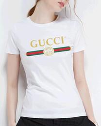 Maillots de filles en Ligne-Femmes Filles Coton 100% coton T-shirt solide à manches courtes T-shirt décontracté Taille Plus sous la chemise femininas Lady vêtements tees tops Grande taille S - XL