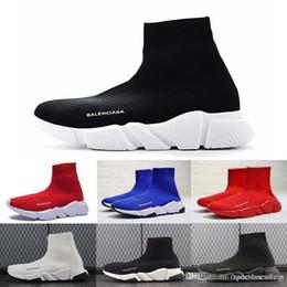 2019 дизайнер мужчины женщины скорость тренер мода люксовый бренд носок обувь черный белый синий блеск плоские мужские кроссовки Бегун кроссовки eur 36-45 от Поставщики кроссовки с блестками