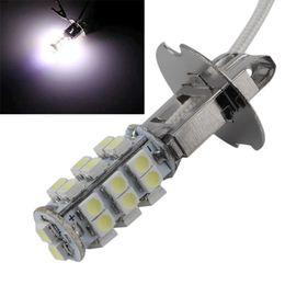 Toma 12v para coche online-H1 H3 Auto Car 3528 1210 SMD 26 LED 3W 26SMD Luz de cabeza de bulbo de faro blanco DC 12V 45mm Adecuado para faro de coche H3 socket Envío gratis