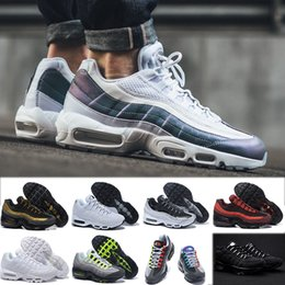 new style 2044b b47e5 Nike air max 90 95 97 98 270 chaussures OG QS 20th Anniversary 95 Plus  Cushion Uomo Donna Ultra Running Shoes 95s Rainbow Nero Bianco pesca Greedy  Run Sport ...