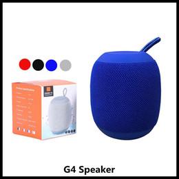 Porta della scheda sd online-Altoparlante per esterno senza fili portatile Bluetooth G4 Altoparlanti per esterni Batteria ricaricabile Micro-SD TF Card con porta per microfono da 3,5 mm per telefono cellulare