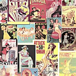 Personajes de papel 3d online-3d personalizado foto mural americano vintage personajes cartel papel tapiz personalidad hogar decoración de la pared papel de parede