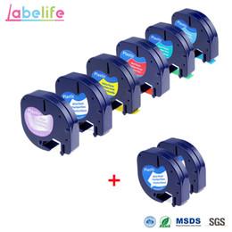 nastro di imballaggio in plastica Sconti Labelife 8 Pack Combo LetraTag Plastic 12267 91201 91202 91203 91204 91205 Compatibile DYMO Label Tape per DYMO Label Makers