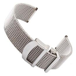 fibbia breitling Sconti Strap Mesh orologio per IWC Portofino in acciaio inossidabile Milanese Watch Band Wristband 20 22MM
