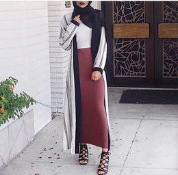 0956f3f8c8 Factory Price Women Ankle Length Pencil Skirt High Waist Muslim Women  Bodycon Maxi Skirt Black Wine red Khaki