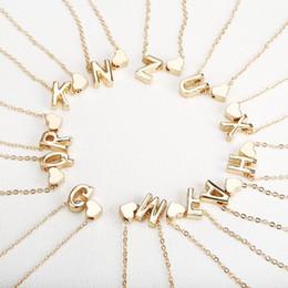 cadena de espina de pescado al por mayor Rebajas Diminuto collar inicial de oro letra de oro collar iniciales nombre collares Colgante personalizado para las mujeres girls.best regalo de cumpleaños