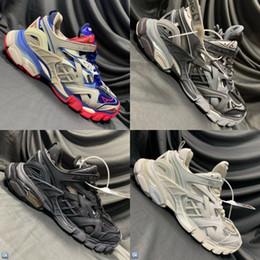 Piste libere online-2019 di trasporto 2019 nuovo colore della traccia 2 Scarpe unisex comodi maglia respirabile e nylon Designer Shoes Size 36-45