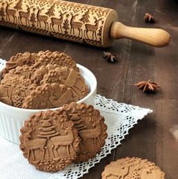8 disegni goffratura di legno mattarello rullo di pasta bakeware per fondente torta crosta biscotto pasticceria pasta rullo strumenti di cucina da