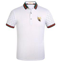 polos design alto Desconto Novo estilo de negócios polo famoso designer pólo polo dos homens selvagens grande abelha bordado design de negócios casual de alta qualidade camisa