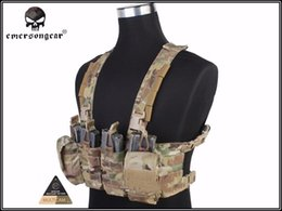 2019 chaleco de engranajes EmersonGear EASY Chest Rig Multicam Chaleco Airsoft Military Combat Gear EM7450 Multicam AOR # 265179 chaleco de engranajes baratos
