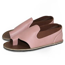 sandalia de tacon simple para mujer Rebajas Sólido Artificial PU Ocio Fresco Cómodo Casual Girls Fashion Soft Summer Flat Heel Beach Sandalias de Mujer Simple