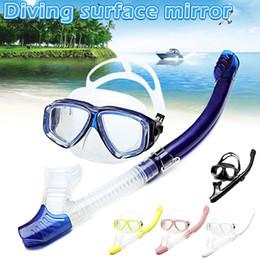 snorkeling set asciutto Sconti Diving Dry Snorkel Set Anti-fog Wide Clear View Occhiali da nuoto Snorkel per l'estate BB55