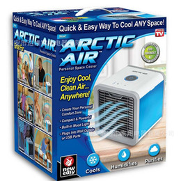 umidificador de ar ártico 10W USB refrigerador purifica sala de home office mini portáteis refrigeradores de ar com LED Eletrodomésticos luz Eletrodomésticos de