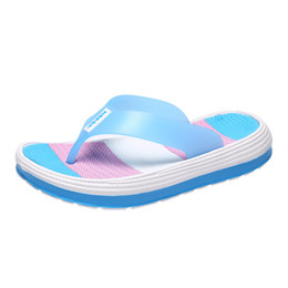 slipper clips Coupons - SAGACE Women's Casual Flip-Flops Fashion Women's Soft Bottom Beach Shoes Flat Clip Toe Rainbow Flip-Flops Slippers Fe11