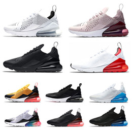 nike air max airmax 270 270 s Das Mulheres Dos Homens Tênis de corrida  Triplo Branco preto Total Laranja Be true Men Trainer Esportes Sneaker  Jogging Sapato ... 9176acb002365