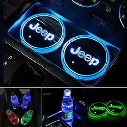 accesorios para jeep Rebajas Portavasos Alfombrillas Almohadillas Ambiente interior Luces RGB para Jeep Wrangler JK Grand Gherokee Compass Patriot Renegade commander Accesorios