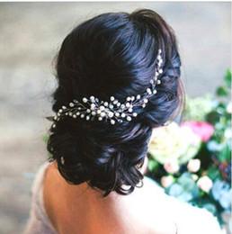 Accesorios de decoración de pelo para la boda online-Adornos para el pelo nupcial Moda Hairwear Boda Accesorios para el cabello Peine para el cabello Mujer Chica Tocado Tocado Cabeza Decoración Pin