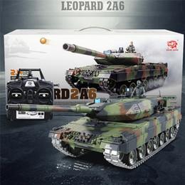 3889 1 116 2.4G German Leopard A6 RC Tanque de simulación real de sonido infrarrojo RC Modelo de Tanque de plástico Pistas Piñones Ruedas locas Whe