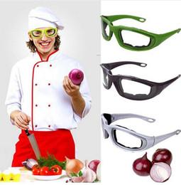 2019 strumenti di vetro Occhiali protettivi Nero Cipolla Occhiali Tear Free Affettare Tagliere Tagliere Occhio Proteggere Occhiali Occhiali Utensili Da Cucina GB683 strumenti di vetro economici