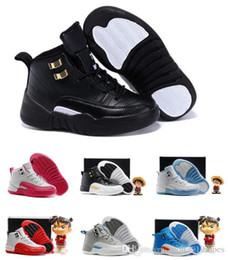 size 40 623bd 60c8d Jungen Mädchen 12 12s Gym rot hyper violett lila Kinder Basketball Schuhe  Kinder rosa weiß blau dunkelgrau schwarz Kleinkinder Geburtstagsgeschenk