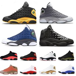 new arrival 68368 7ade4 Nike Air Jordan retro 13 Großhandel 13s Basketball Schuhe Black Cat Chicago  GS Hyper Royal Black Cat Flints gezüchtet Brown Olive Wheat Herrenschuhe  Sport ...