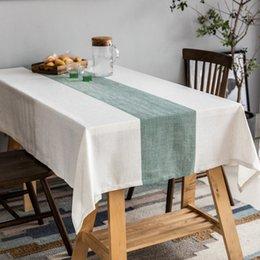 2019 tisch-overlays für hochzeiten New Square Esstisch Tuch Rechteck Tischdecke für Hochzeitsfest-Baumwolle Leinen Handtücher Küche Tischdecke Hauptdekoration Textil