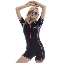 Muta per immersioni online-Tuta da sub con protezione solare per le vacanze Vacanza Snorkeling Muta congiunta a maniche corte con angolo piatto Motion Wear Alta elasticità 55 5rs C1